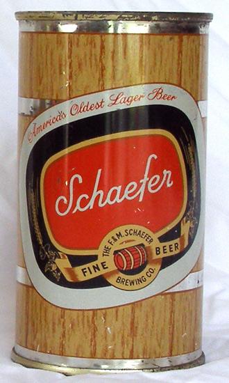 Special! 2 Schaefer Beer Flat Top Beer Can