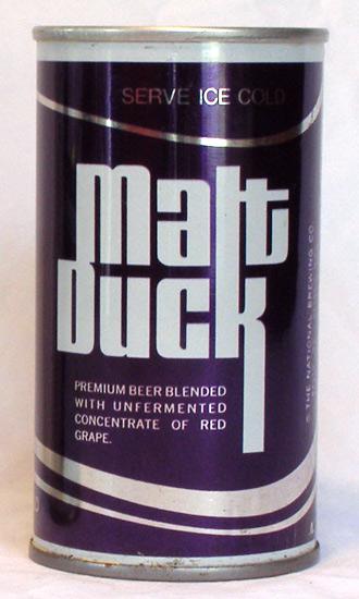 Malt Duck Beer Tab Top Beer Can