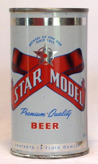 Star Model Beer Flat Top Beer Can
