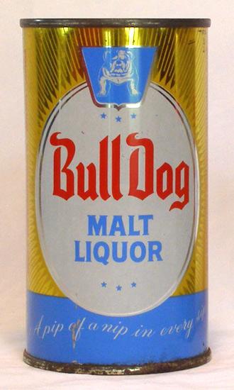 Bull Dog Malt Liquor Flat Top Beer Can