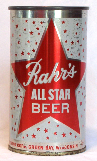 Rahrs All Star Beer Flat Top Beer Can