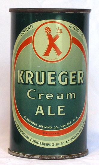 Krueger Cream Ale Flat Top Beer Can