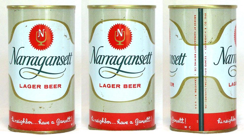 Narragansett Beer Tab Top Beer Can