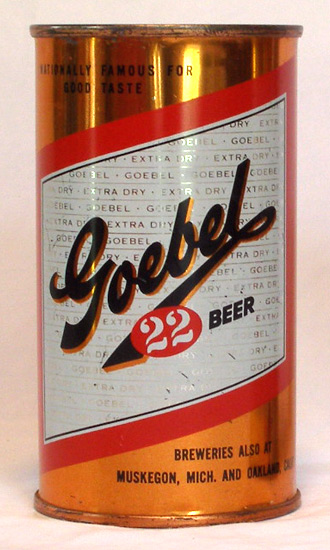 Goebel Beer Flat Top Beer Can