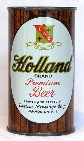 Holland Beer Flat Top Beer Can