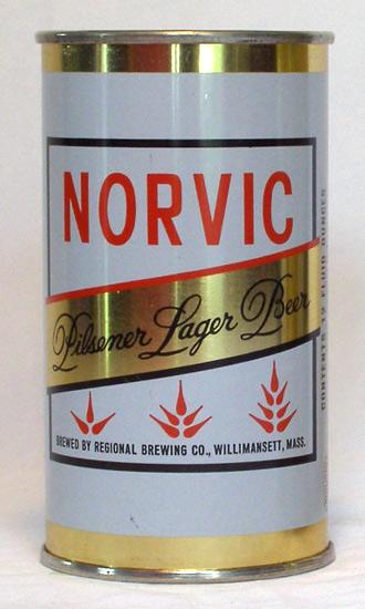 Norvic Beer Flat Top Beer Can