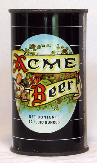 Acme Beer Flat Top Beer Can
