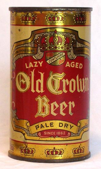 Old Crown Beer Flat Top Beer Can