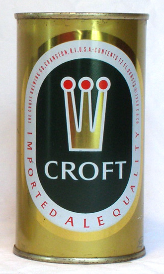 Croft Ale Flat Top Beer Can