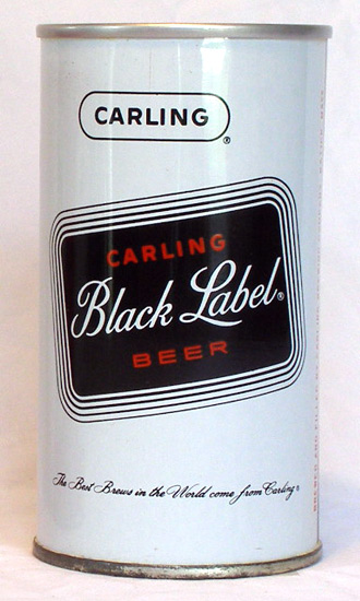 Black Label Beer Tab Top Beer Can