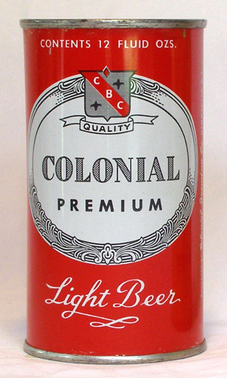 Colonial Beer Flat Top Beer Can