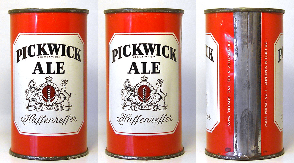 Pickwick Ale Flat Top Beer Can