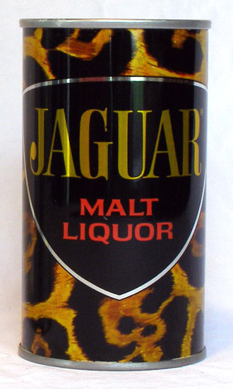 Jaguar Malt Liquor Tab Top Beer Can