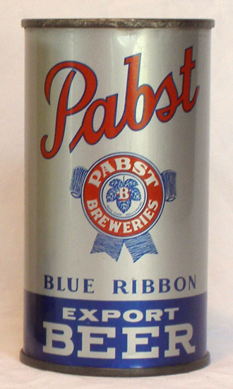 Pabst Blue Ribbon Beer Flat Top Beer Can