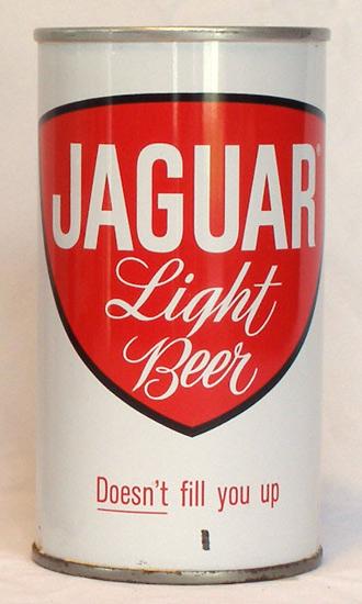 Jaguar Light Beer Tab Top Beer Can