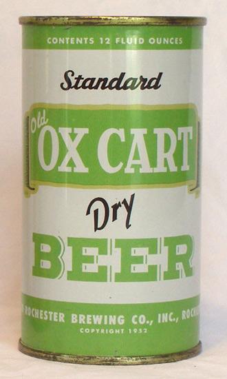 Ox Cart Dry Beer Flat Top Beer Can