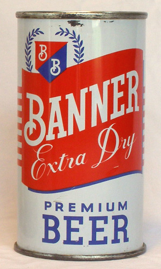 Banner Extra Dry Beer Flat Top Beer Can