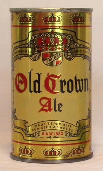 Old Crown Ale Flat Top Beer Can
