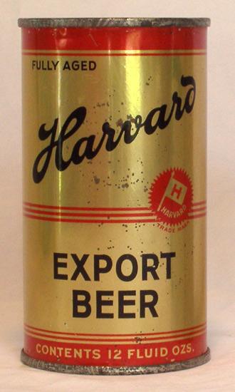 Harvard Beer Flat Top Beer Can
