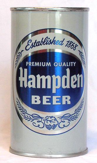 Hampden Beer Flat Top Beer Can