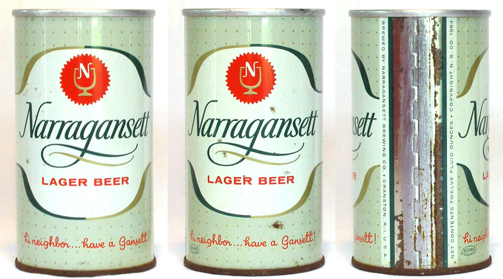 Narragansett Beer Zip Top Beer Can