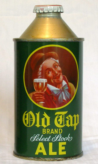 Old Tap Ale High Profile Cone Top Beer Can