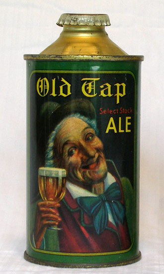 Old Tap Ale Low Profile Cone Top Beer Can