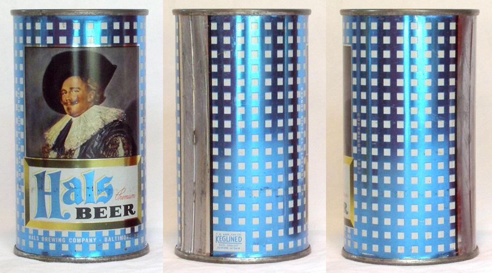 Hals Beer Flat Top Beer Can