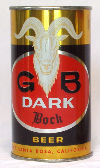 GB Dark Bock Flat Top Beer Can