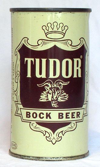 Tudor Bock Flat Top Beer Can