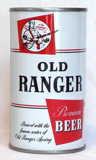 Old Ranger Beer Flat Top Beer Can