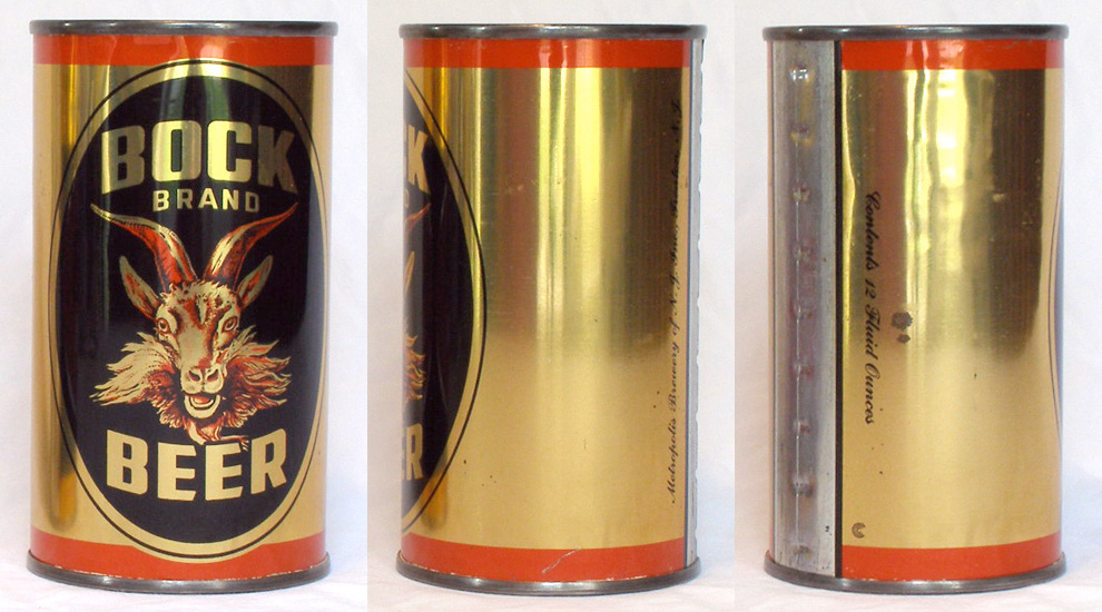 Bock Brand Beer Flat Top Beer Can