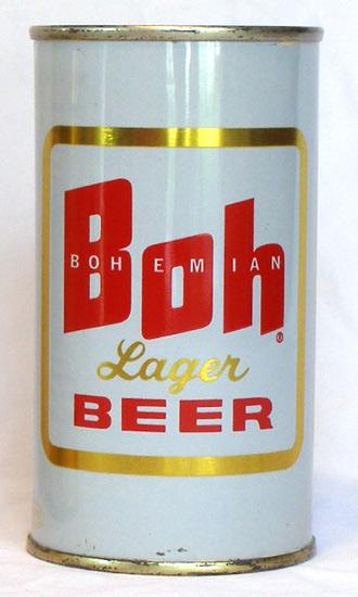Boh Beer Flat Top Beer Can
