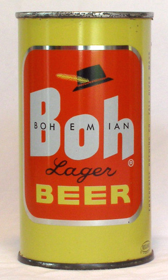 Boh Beer Flat Top Beer Can