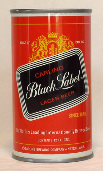 Black Label (Bruins) Beer Tab Top Beer Can