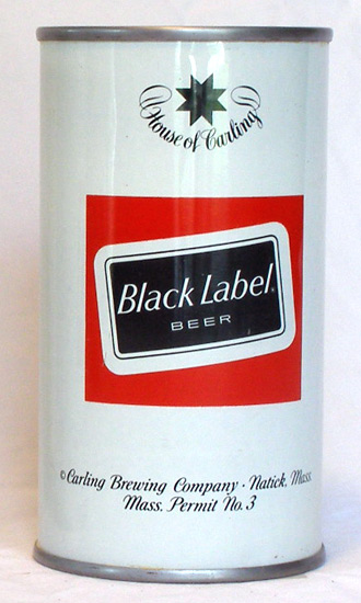 Black Label (Reunion) Beer Tab Top Beer Can