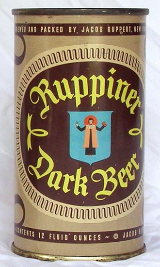 Ruppiner Dark Beer Flat Top Beer Can