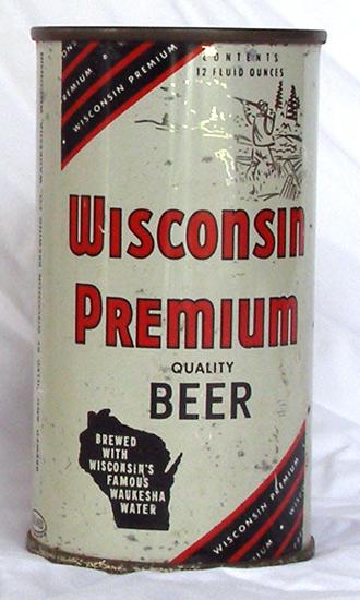 Wisconsin Premium Beer Flat Top Beer Can