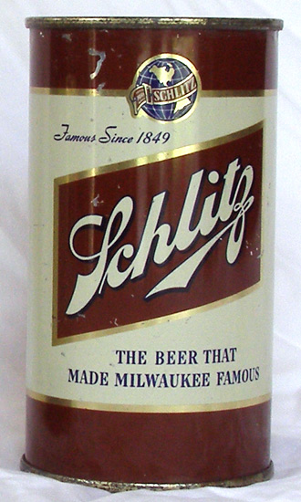 Schlitz Beer Flat Top Beer Can
