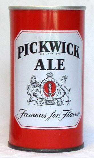 Pickwick Ale Zip Top Beer Can