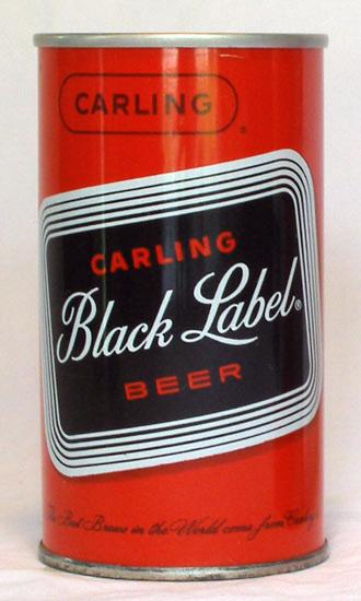 Black Label Beer Zip Top Beer Can