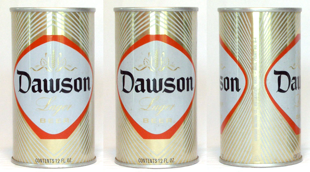 Dawson Beer Tab Top Beer Can