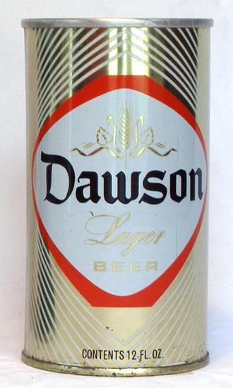 Dawson Beer Tab Top Beer Can