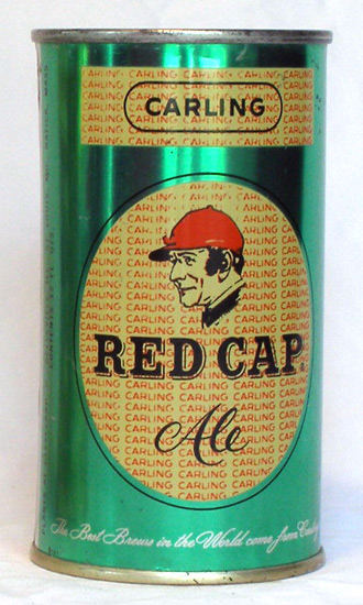 Red Cap Ale Flat Top Beer Can