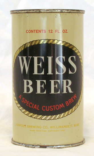 Weiss Beer Flat Top Beer Can