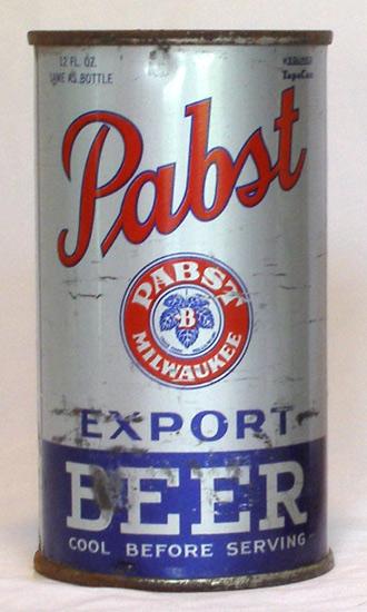 Pabst Beer Flat Top Beer Can