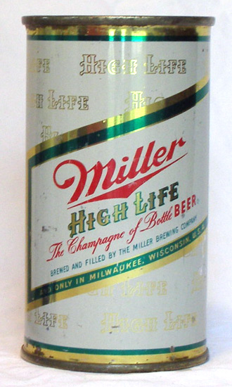 Miller Beer Flat Top Beer Can