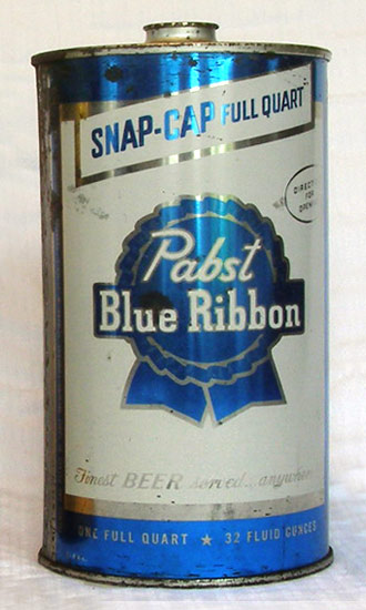 Pabst Beer Quart Cone Top Beer Can