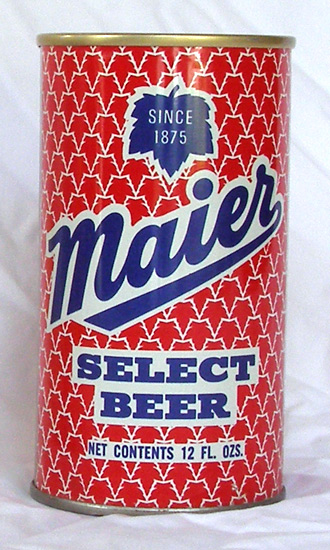 Maier Beer Tab Top Beer Can