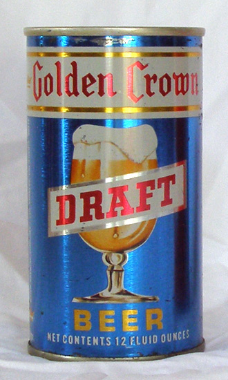 Golden Crown Draft Tab Top Beer Can